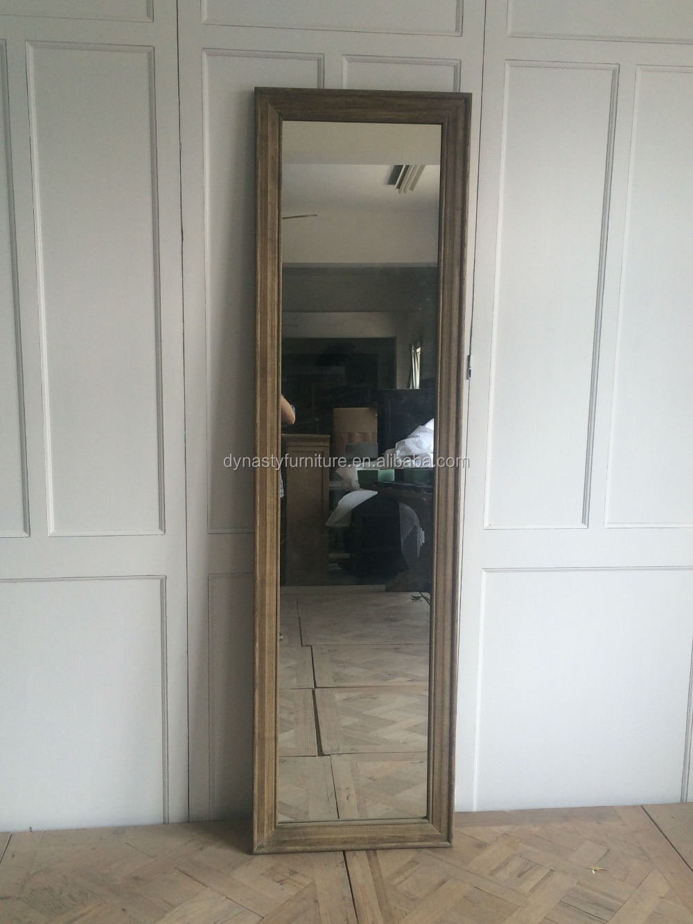 french style decorative natural wooden frame mirror