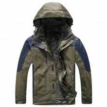 Dubbelzijdig mannen Pluche Warm Ski Jassen Waterdicht Winddicht Fleece Jassen Mountain Hooded Jassen Outdoors <span class=keywords><strong>Winter</strong></span>