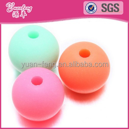 china bead manufacturer wholesale 5mm round matte acrylic big hole plastic beads