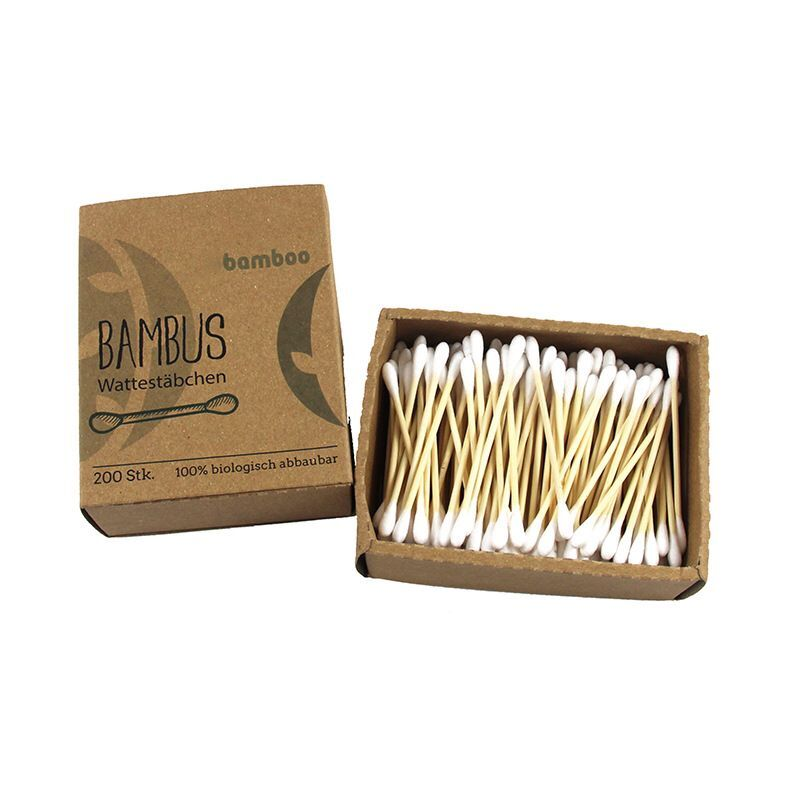 Eco-friendly Bamboo cotton buds makeup remove cotton buds 200pcs/box