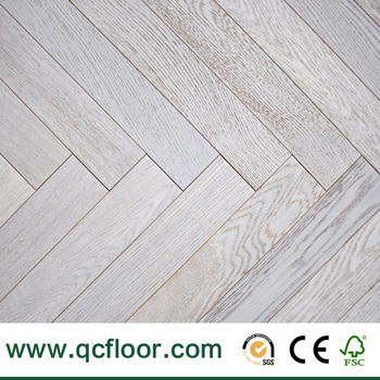 White Wash Oak Engineered Wood Floor Heating System