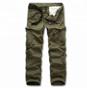 COTTON GARMENT WASHED CARGO WORK PANTS