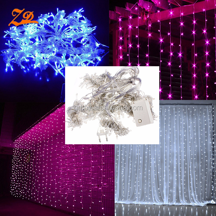 wholesale outdoor cheap decoration blue led waterfall curtain lights