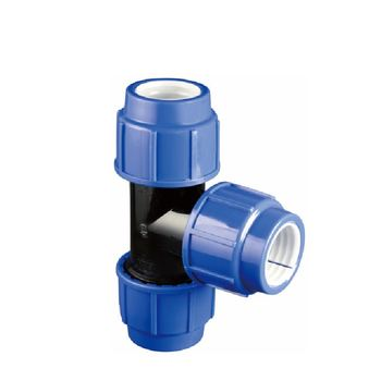 ERA PN16 PP Compression Reducing tee Plastic Fitting