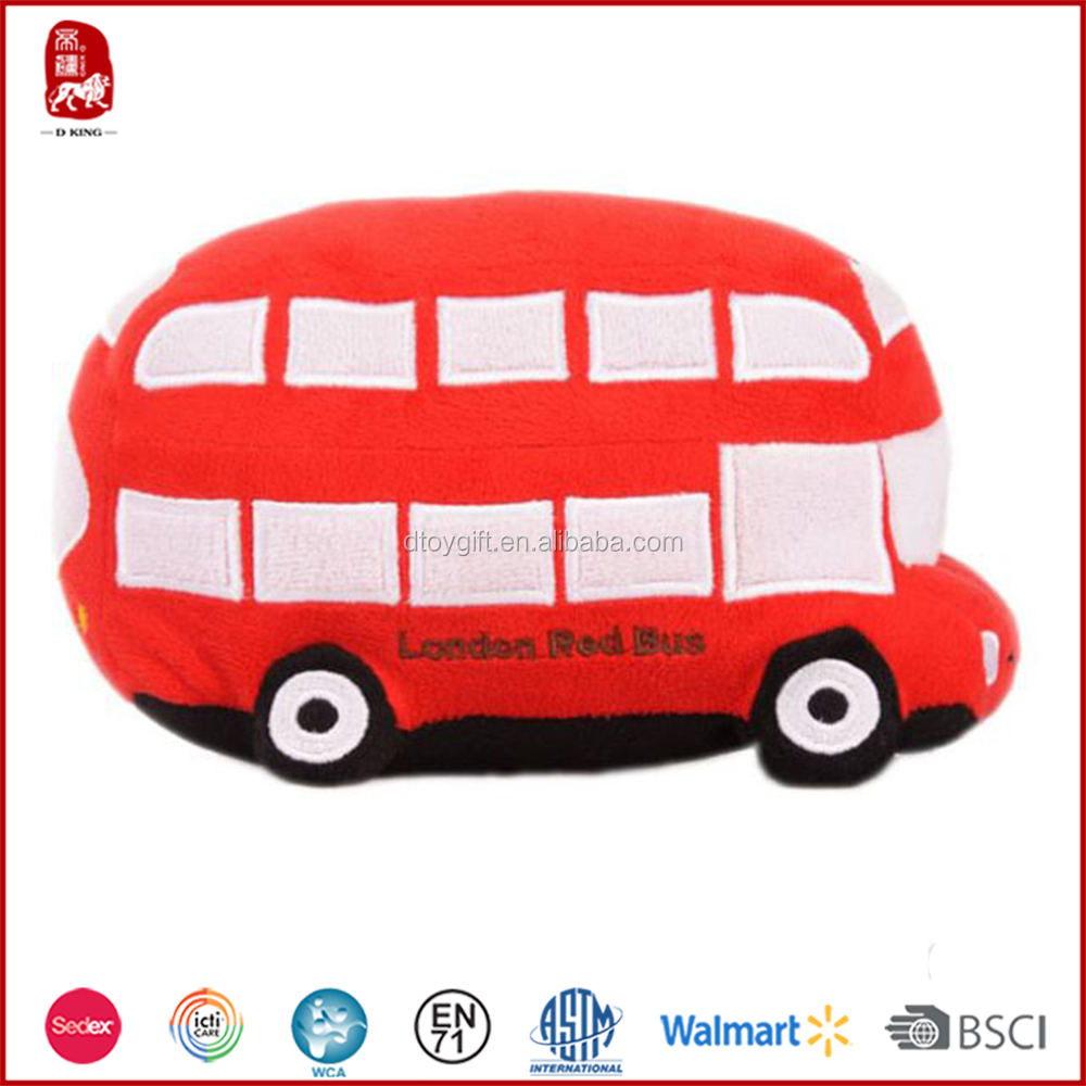 Purchase ICTI quality plush toy bus for kids from China supplier