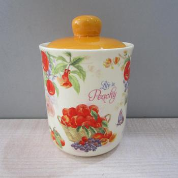 New Ceramic Yellow Kitchen Coffee Canisters Set