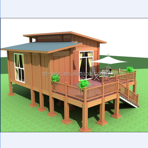estilo europeo villa integrado wpc casa de madera hueco casa jardn cobertizos de