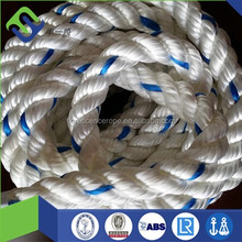 3-strand Polyester ropes for boat rigging and dock lines