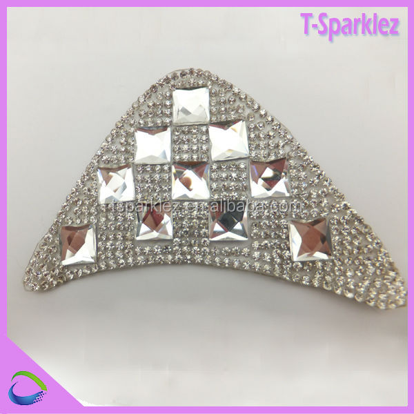 cap shoes top rhinestone design motif crystal applique