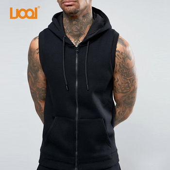 arriving customers first hot products Manufacturer In China Custom Zip Up Men Hooded Gym Black Sleeveless Hoodie  - Buy Sleeveless Hoodie,Men Sleeveless Hoodie,Custom Sleeveless Hoodie ...