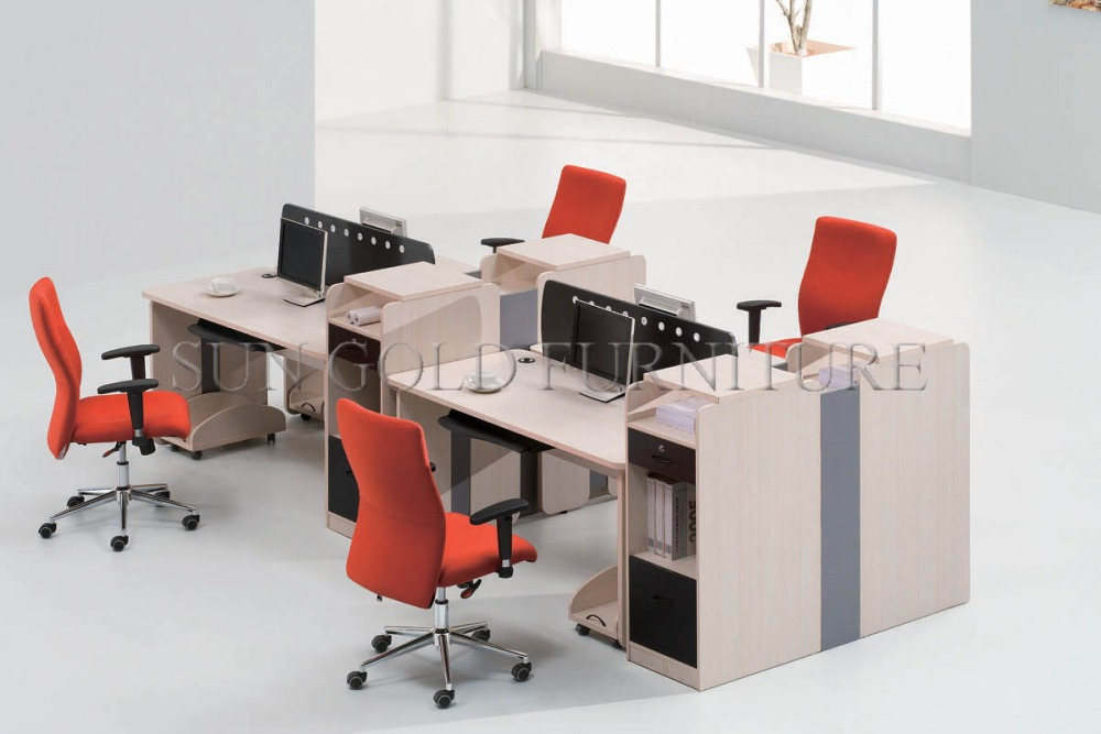 Modern Unique Side To Side Double L Shape Office Cubicle