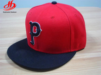 New design 3D puff embroidery era 6 panel snapback red cap