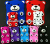 3D lovely bear silicone case cover for ipod touch 4