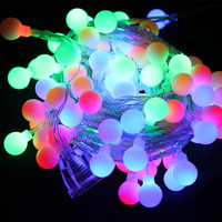 Holiday Decoration 10m 100 Ball RGB LED String Wedding Party Fairy Christmas Light