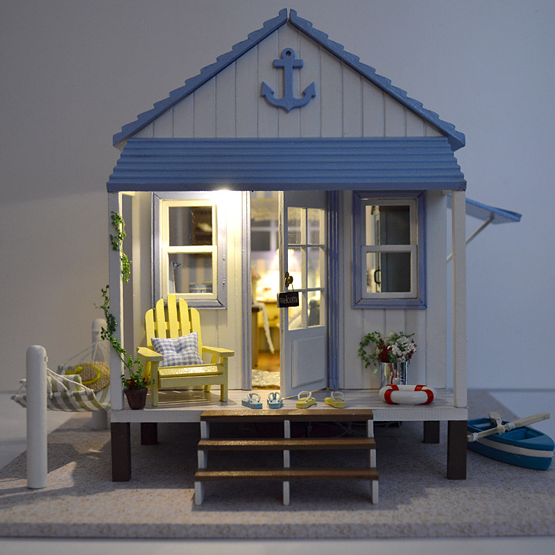 Dollhouse Kit Furniture Dolls Houses DIY Handmade Wooden