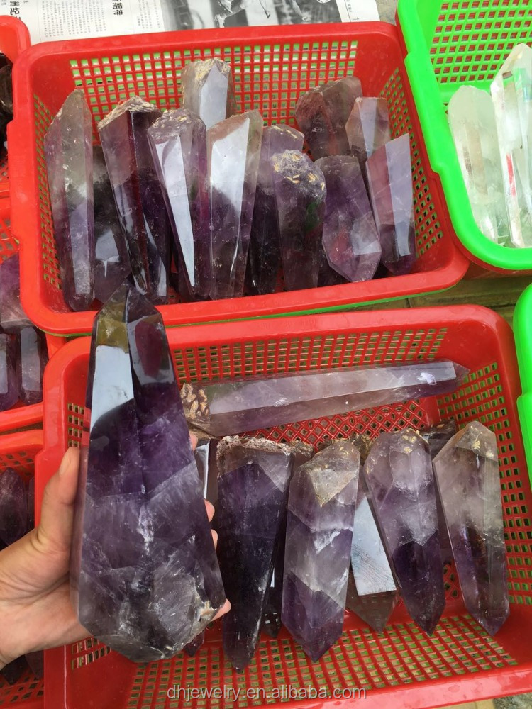 large amethyst rough point raw stones rock quartz crystal wholesale prices from Brazil