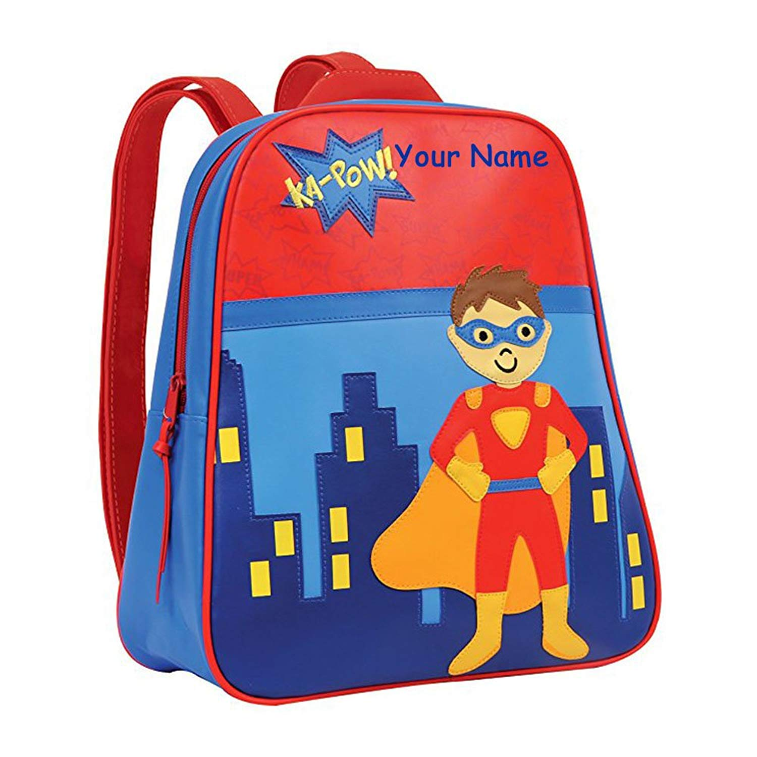 Get Quotations · Stephen Joseph Personalized Little Boys  Go Go Superhero  Backpack With Name b674395401f92