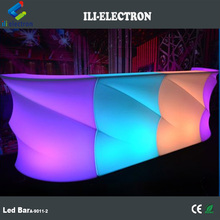 Modern design plastic lighted up led bar cocktail table