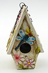 Americanoutfitter Stoneware Dragonfly Birdhouse - Unique Gift For Birthday Christmas Wedding Anniversary Engagement Graduation Couples Men Women Mom Dad Grandpa Sister Wife Husband Friends
