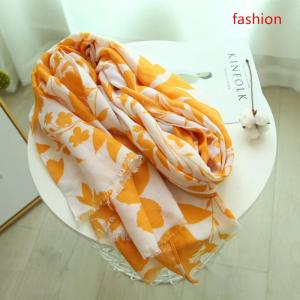 wholesale fashion printed hijabs scarf with fringe scarf hot colors hijab and nice material shawl