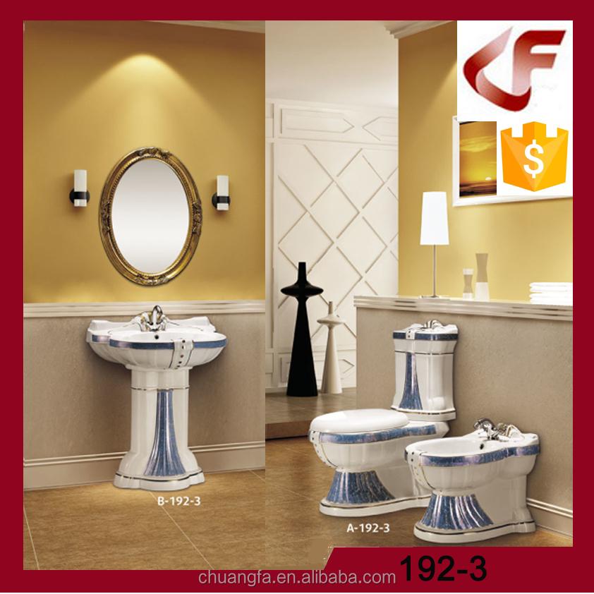 WC wc Decorativo set con colore blu per bagno di lusso-Imposta di sanitari-Id prodotto ...