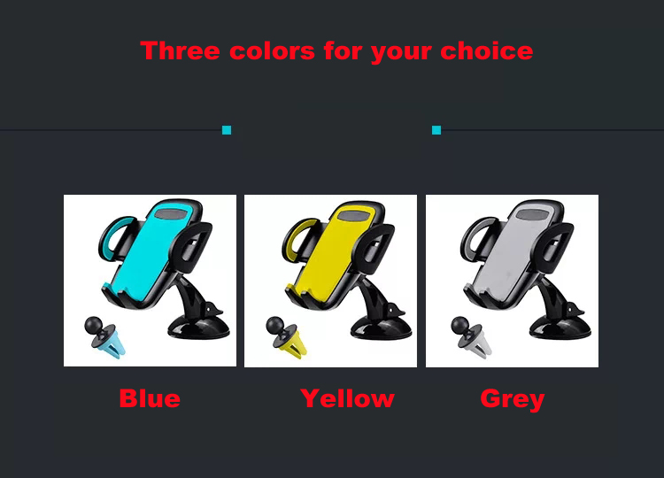 New Design Mobile phone car holder For iphone 6s;All brands Cell phone car holder for iphone 7 mobile phone;Flexible car holder