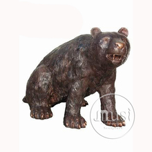 Bronze Factory Supplies Wholesale Cheapest Price Life SIze Bronze Bear Sculpture