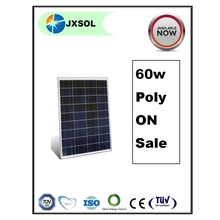 Good quality wholesale line A cells poly 60w sun solar panel price