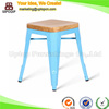 (SP-MC038w) Wholesale industrial stacking low bar stool metal wood