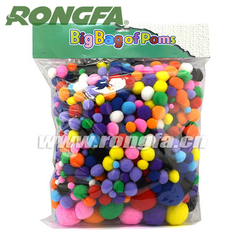 Diy kids craft kits wholesale craft pompoms cotton pompoms for Craft kits for kids in bulk