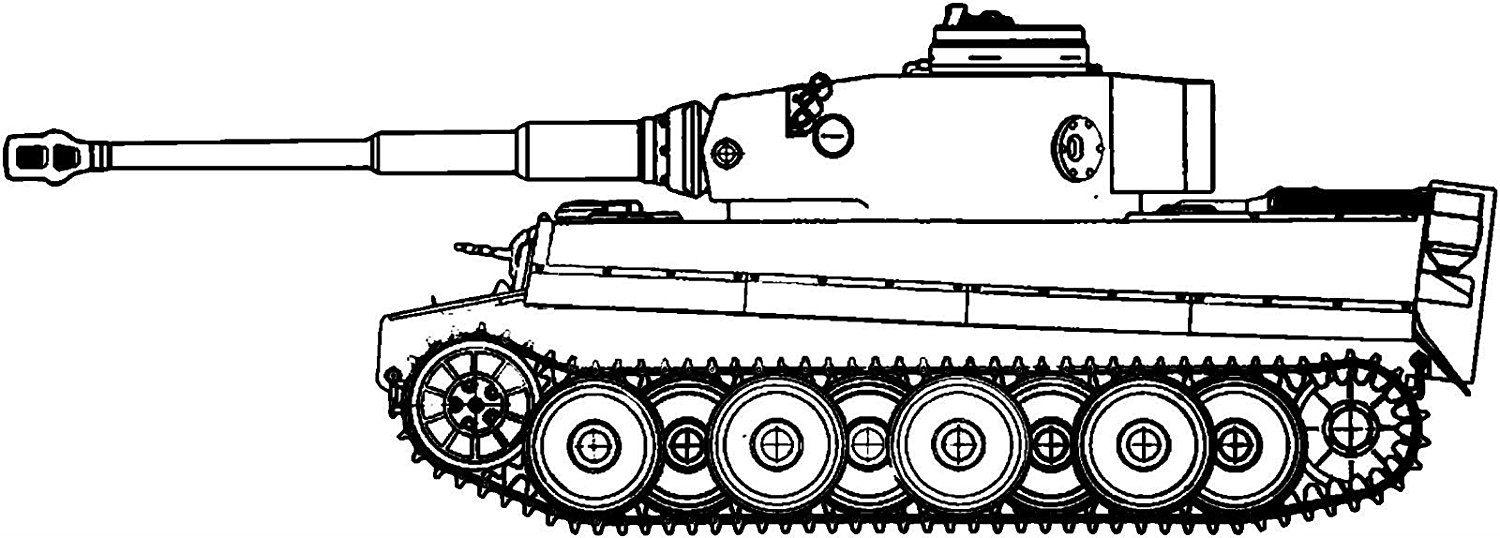 German Tiger Tank Window Sticker