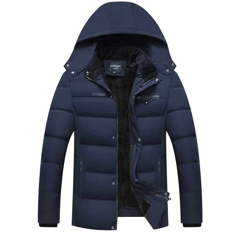 2019 Plain Custom Design Nylon Fabric Padded Mens Jackets Coats Winter Cotton Man Jacket Manufacturer