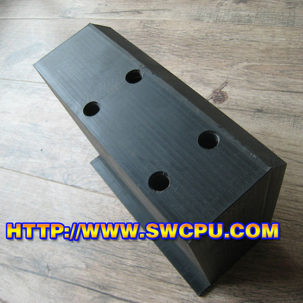 Quality Hard Solid Plastic Spacer Block Black Customized