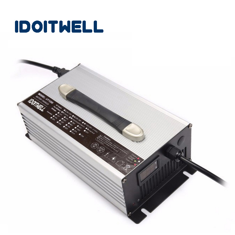 Customized 1200W series 60V 15A 72V 12A 84V 11A battery charger for Lead acid or Lithium Li-ion or LifePO4 battery with display