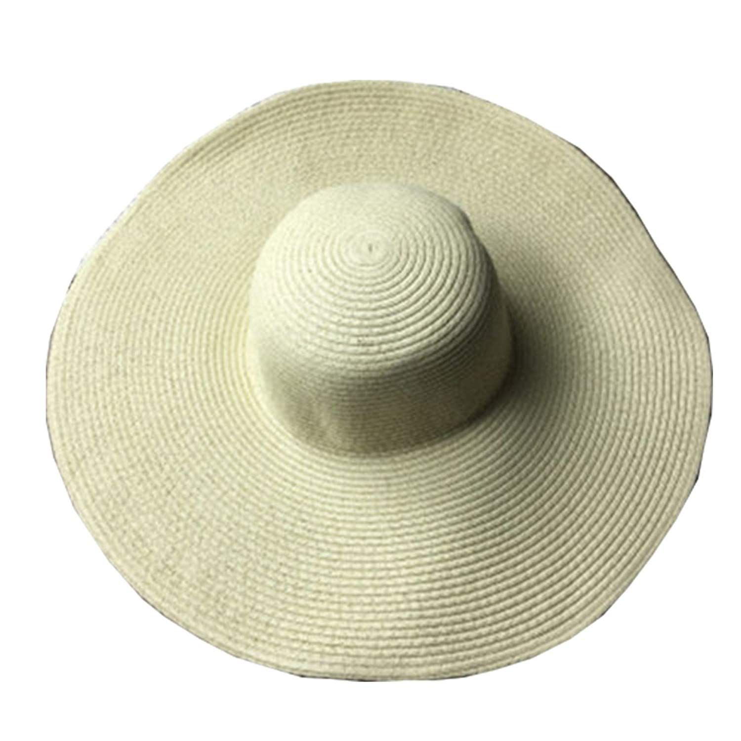 d8290efe536 Get Quotations · Gogolan Summer New Style Women Ladies Straw Hat Hawaii Sun  Hat Beach Hat Wide Brim