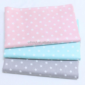 Breathable Dobby Blue Star 100% Cotton Fabric