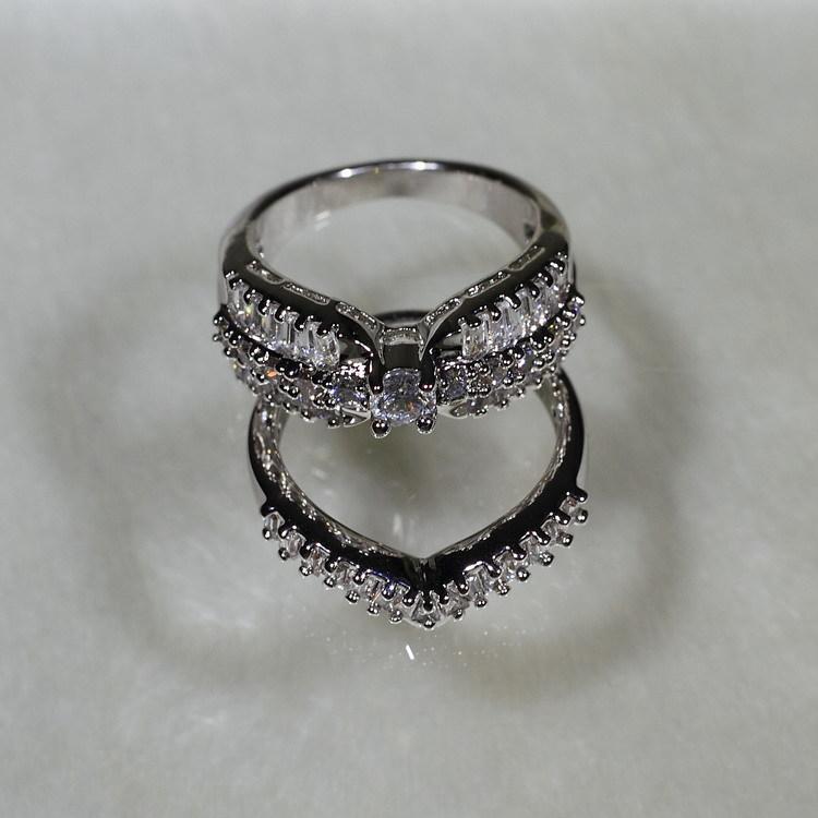 SJYR5590 Wholesale Finger Jewelry Ring Set Mold Of Western Wedding Sets