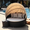rattan furniture beach daybed lounge bed with canopy