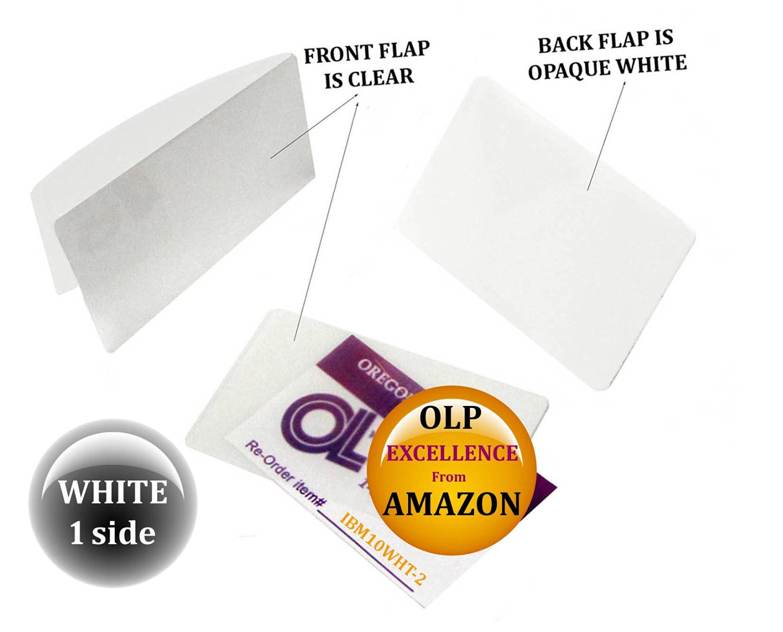 Qty 200 White/Clear IBM Card Laminating Pouches 2-5/16 x 3-1/4