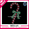 wholesale Christmas Candy Cane With Bow Rhinestone Applique iron on transfer