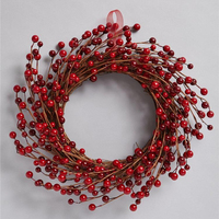 Artificial flowers red berry wreath for decoration