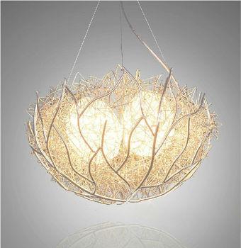 Yellow bird nest chandelier pendant light buy nest chandelier yellow bird nest chandelier pendant light mozeypictures Images