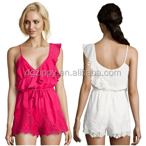 Wholesale sexy modern romantic ruffles cute crochet embroidered short puffy dresses