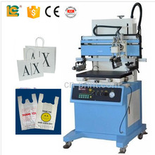 Automatic ink scraping flat bed plastic package bag screen printing machine for sale