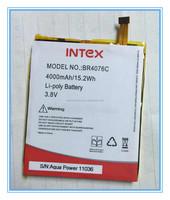 high capacity mobile battery for intex phones 3.8v 4000mah BR4076C li-polymer battery