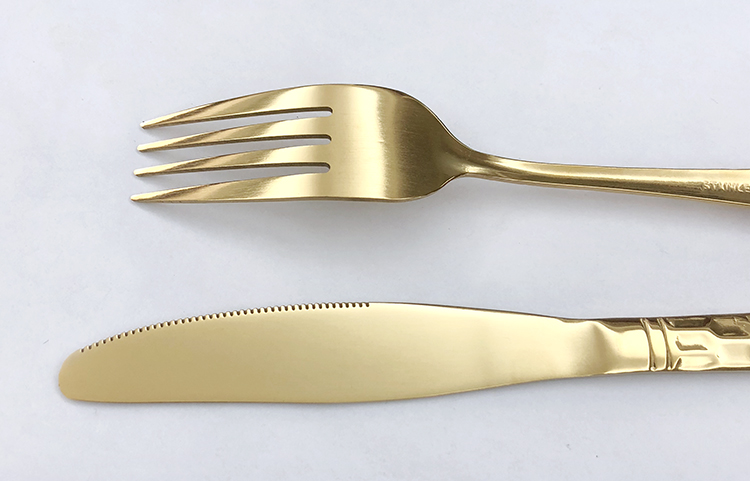 wholesale stainless steel cuttlery golden cutlery forks flatware gold silverware set