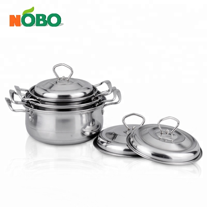 16-20cm 3 pcs stainless steel induction cooking pot set /steel sauce pot set