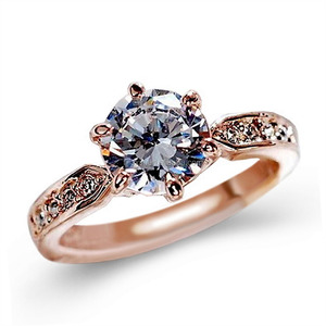 324c10b28c33a8 1.75ct AAA Zircon Engagement Rings for women Rose gold color Wedding rings  female anel Austrian