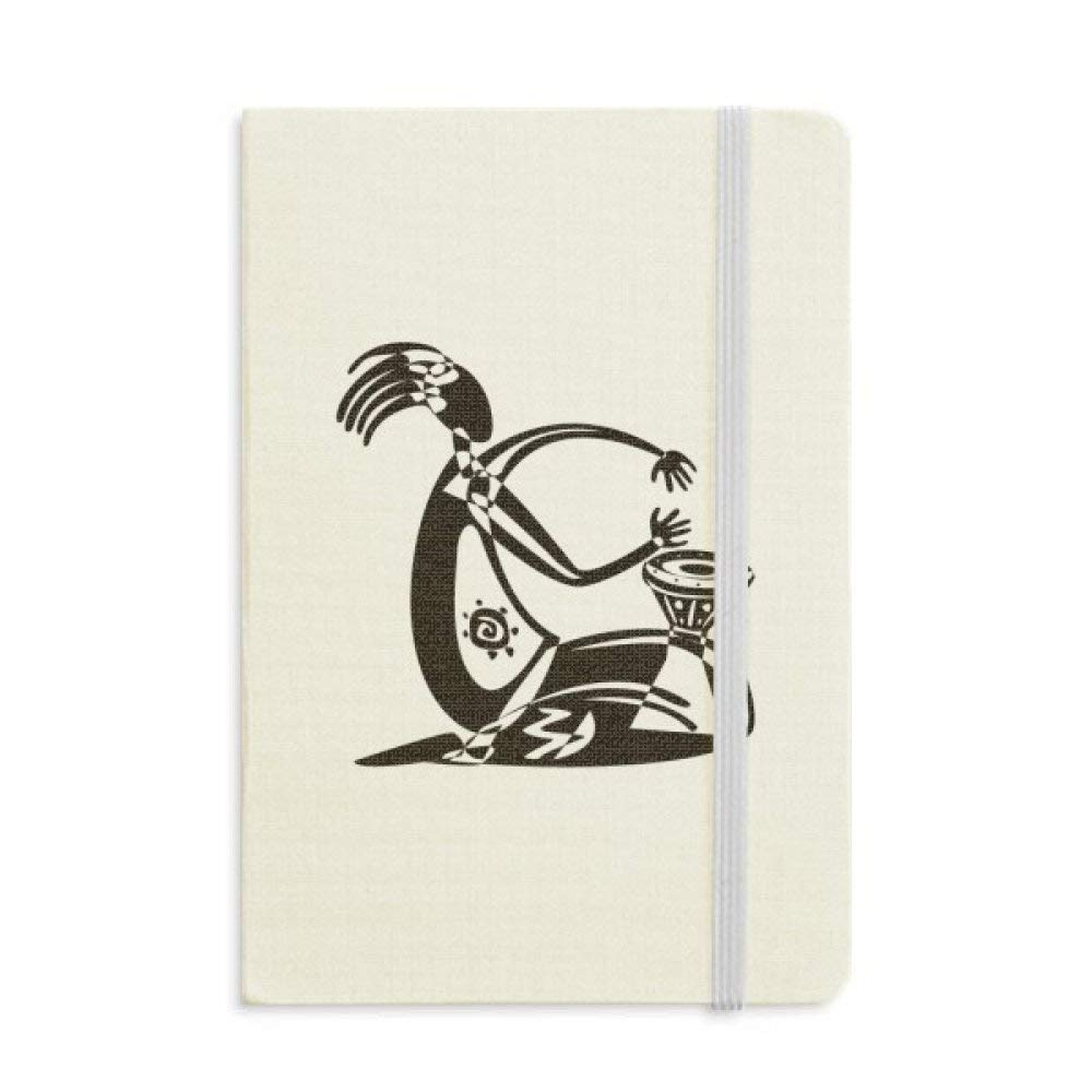 Tambourine Mexican Dance Celebrate Mexico Classic Notebooks Fabric Hard Cover Office Work Gift