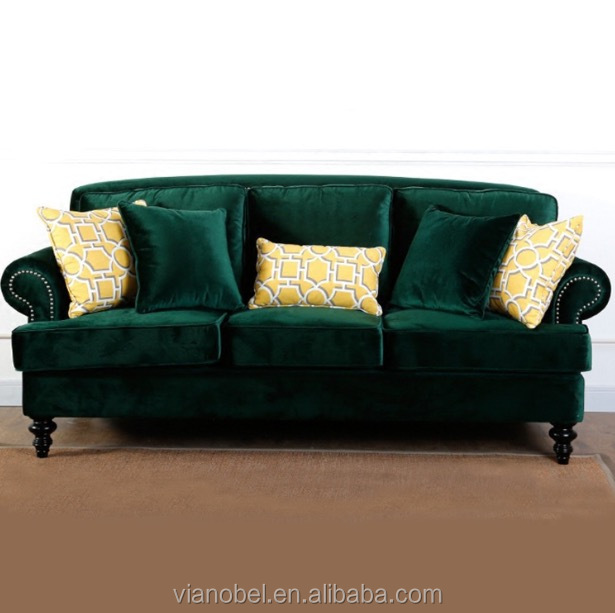 Jennifer Taylor La Rosa Chesterfield Sofa Emerald Velvet Polyester Sy With Comfortable Seating